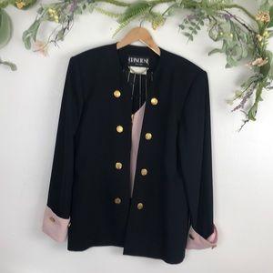 Cache black blazer w/ built in pink vest sz large